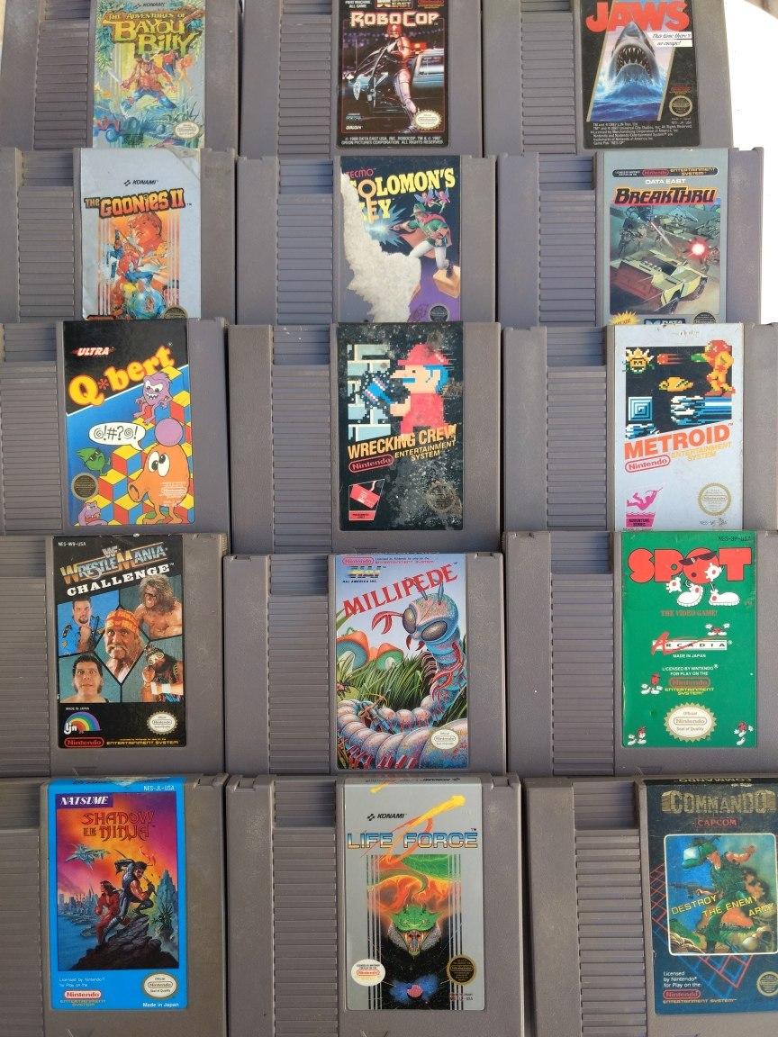 Lote 30 Juegos Nintendo Nes Mario Zelda Envio Gratis Msi