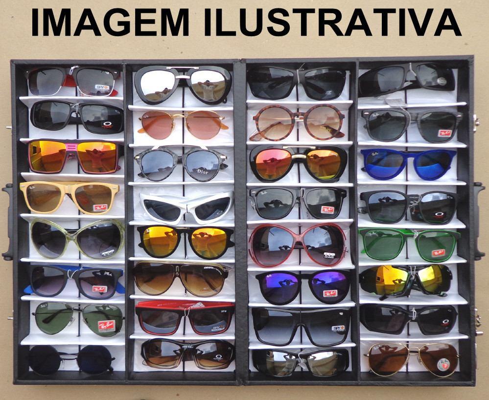 a2d849c4b7b0f Lote 32 Óculos De Sol Variados Para Revenda - R  299,99 em Mercado Livre