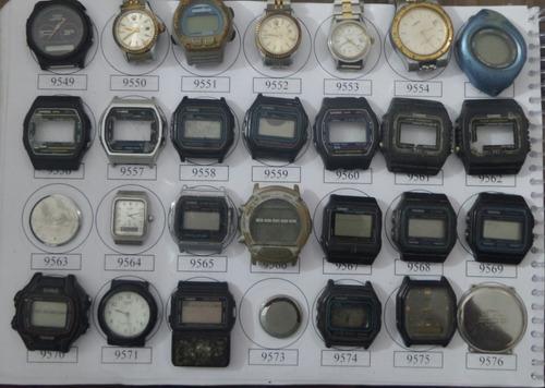 lote 35 sucatas casio e outros- máquina do tempo