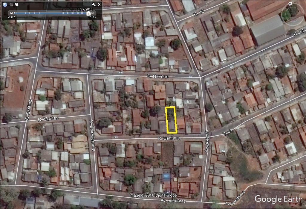 lote 361,10m² (asfalto, agua e esgoto) cidade livre