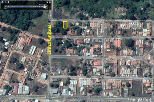 lote 370,24m² (asfalto e agua) parque hayala
