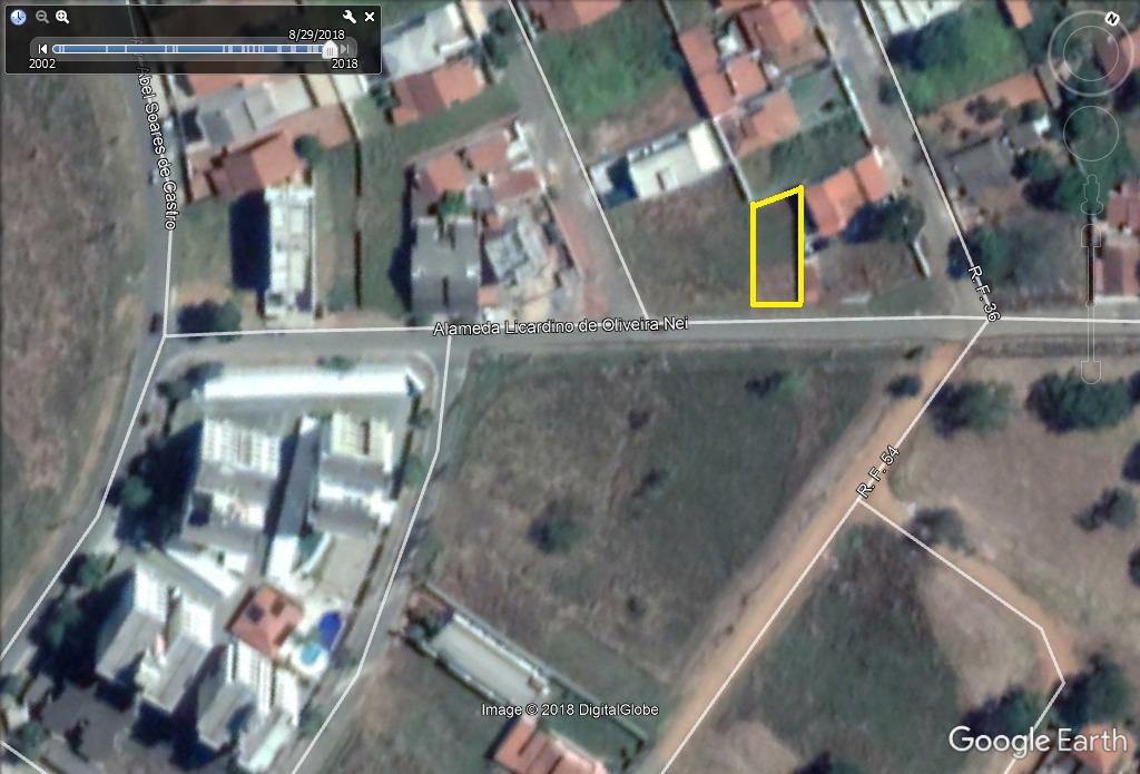 lote 377,26m² (asfalto, agua e esgoto) setor faiçalville