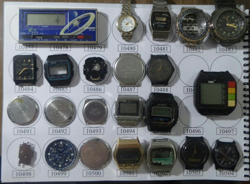 lote 38 sucatas casio e outros- máquina do tempo