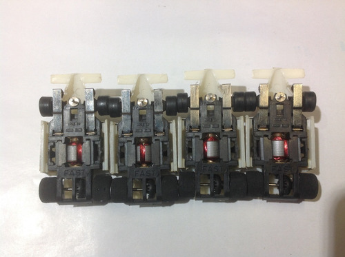 lote 4 antiguos autos fast para pistas tyco scalextric mini