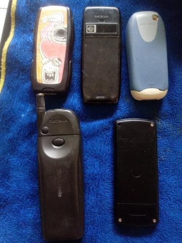 lote 4  celulares antigos siemens,nokia motorola