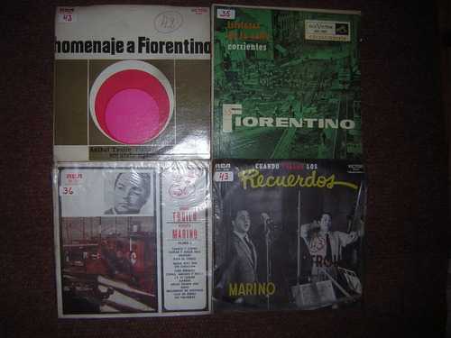 lote 4 discos muy buen estado tango cantan fiorentino marino