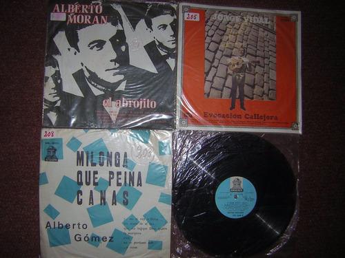 lote 4 discos muy buen estado tango interpretes masculinos