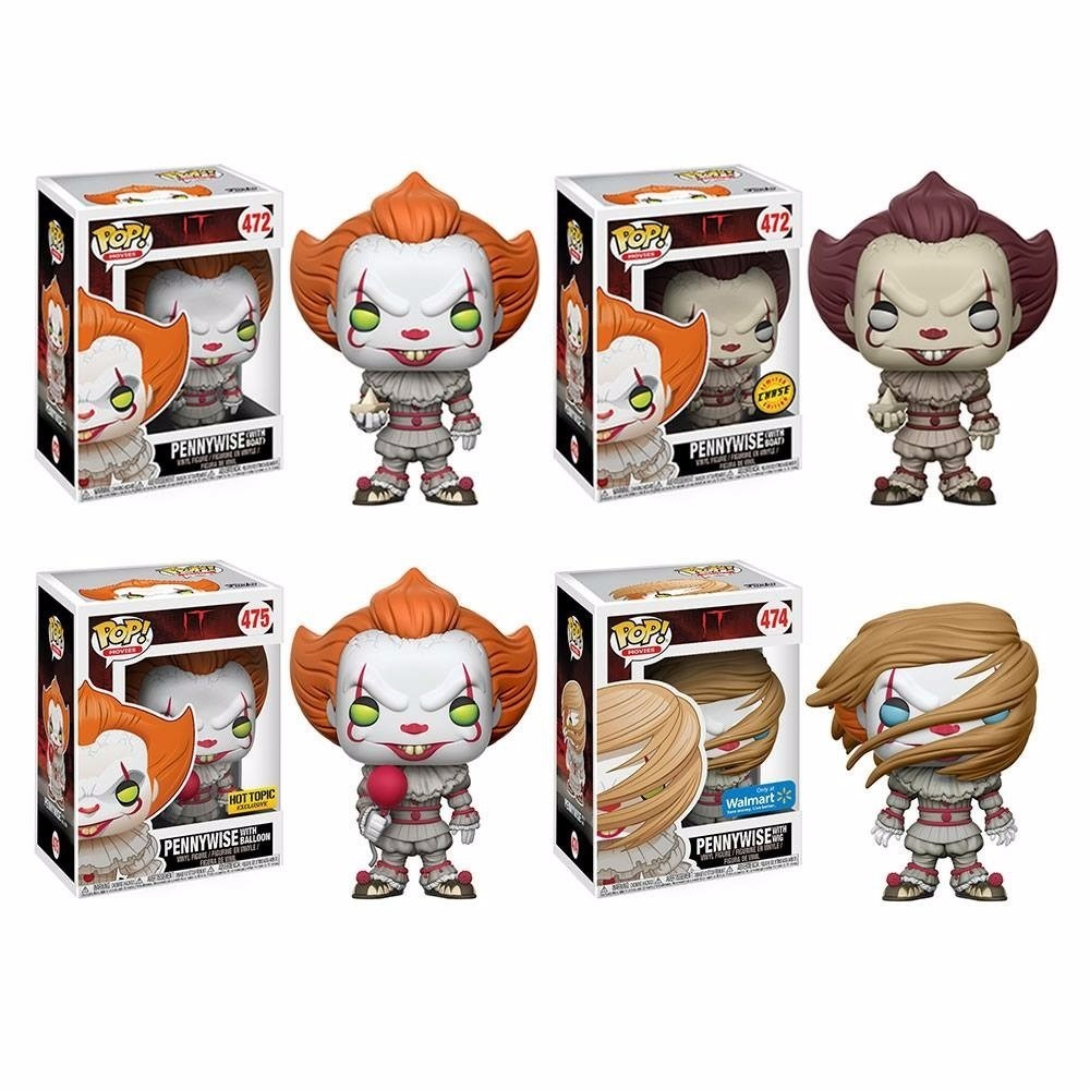 Lote 4 Funko Pop Pennywise Chase Hot Topic Walmart Y