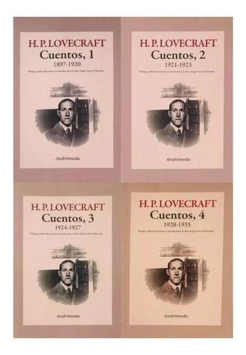 lote 4 libros - lovecraft cuentos 1897-1935 - ed. andromeda