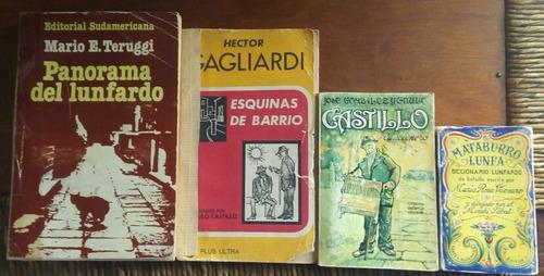 lote 4 libros/ tango/ lunfardo/gagliardi/ catulo castillo