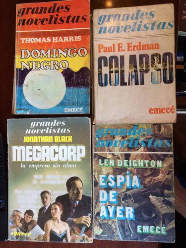 lote 4 libros. thomas harris. paul erdman deighton y  black