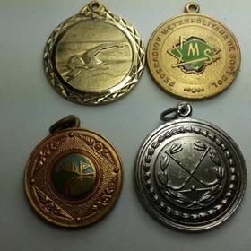 Lote 4 Medallas Deportivas - Med 332