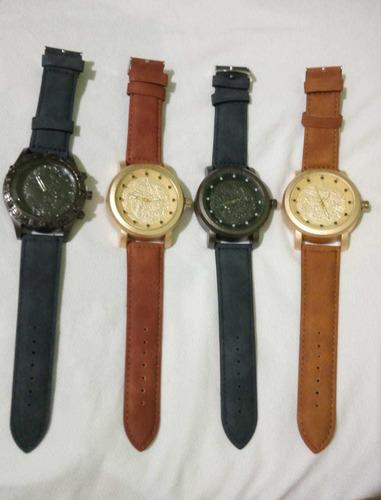 lote 4 relógio ya masculino cravado