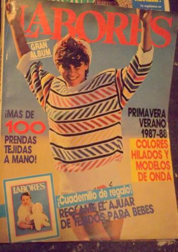 lote 4 revistas de tejido retro labores y tejidos chic 70/80