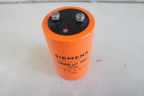 lote 4 unid capacitores eletroliticos siemens de 10000uf 70v