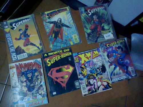 lote 40 hqs super-homem, batman, x-men, etc