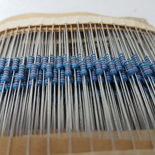 lote 400 resistor de carbono 2k21 1/8w 5%