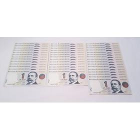 Lote 42 Billetes Argentinos 1 Peso Sin Circular Consecutivos