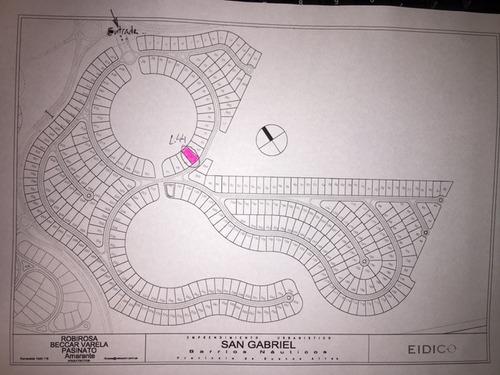 lote # 44 . barrio san gabriel - mejor lote a la laguna del barrio