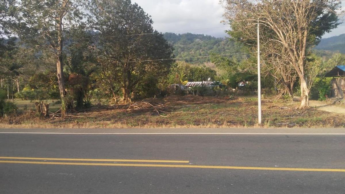 lote 481 mts cerca dominical, frente a la carretera.