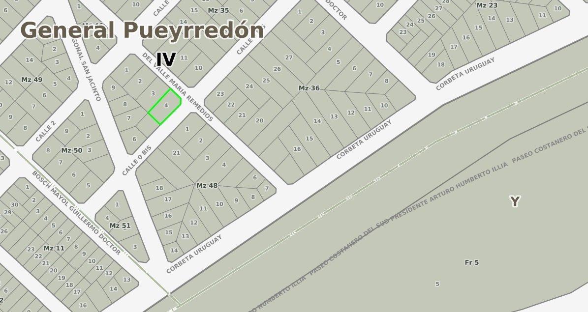 lote 498m2 en esquina - barrio san jacinto