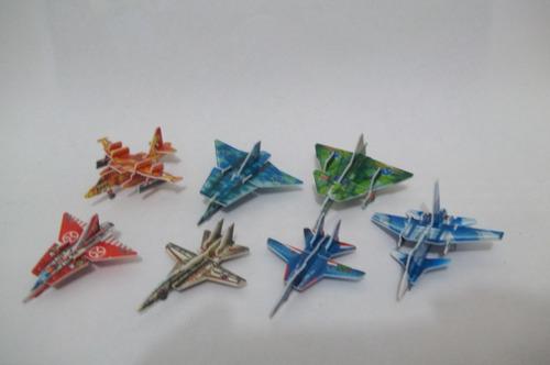 lote #5 - 7 mini q. cabeça 3d aviões - envio grátis