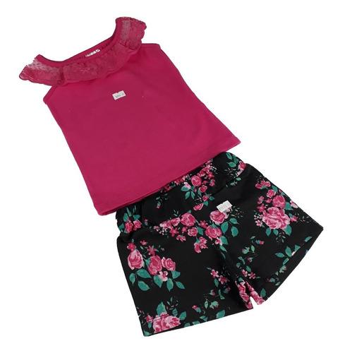 lote 5 conjuntos meninas roupa feminina infantil barato