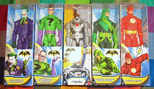 lote 5 figuras de accion articuladas  dc comics 30 cms