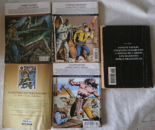 lote 5 gibis tex almanaque, edição de ouro e histórica