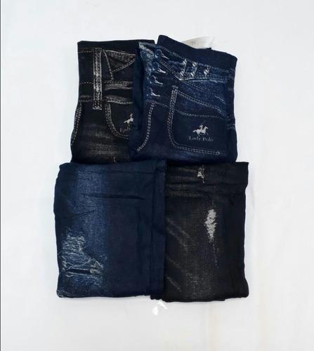 lote 5 leggins tipo mezclilla para dama + envío gratis