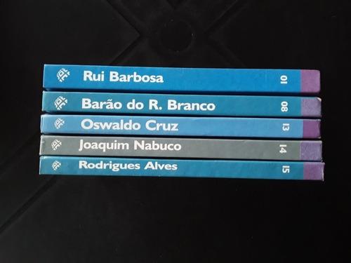 lote 5 livros a vida dos grandes brasileiros