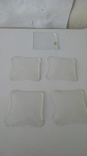 lote 5 micas antiguas de vidrio para relojes cuerda y mesa