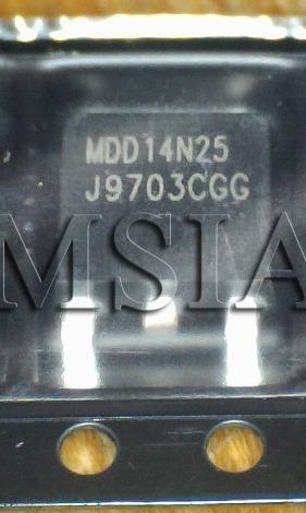 lote 5 peças mdd14n25 mdd 14n25 to252 novo, original msia &