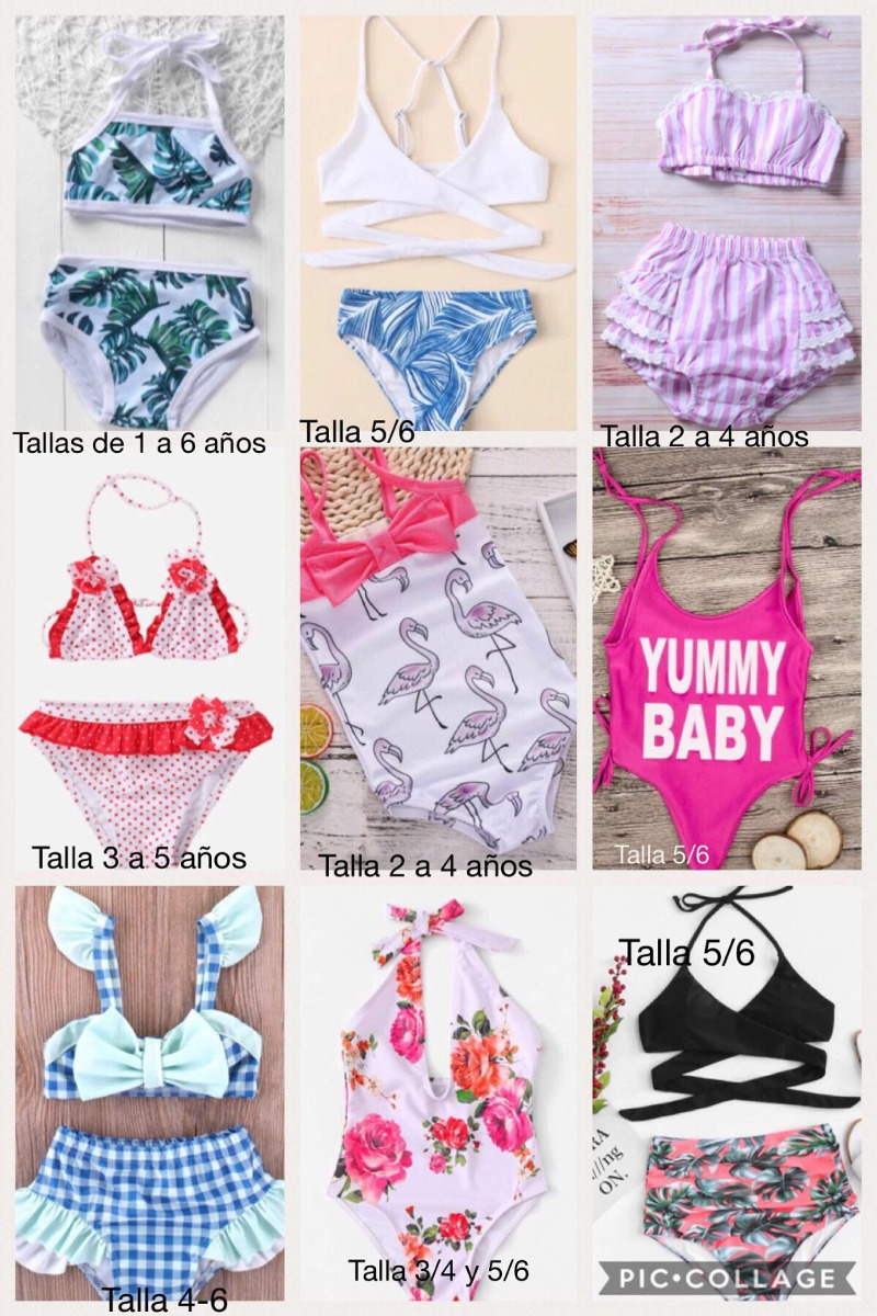 5231d5312 Lote 5 Trajes De Baño / Bikinis Para Niñas - $ 1,150.00 en Mercado Libre