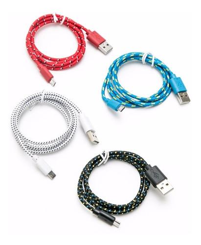 lote 50 cable datos carga micro usb mallado cb19 1 m ditron