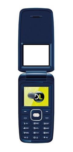 lote 50 celular dl yc335 azul flip dual lacrado
