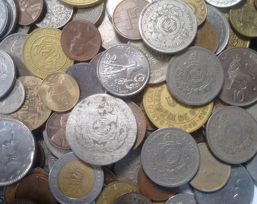 lote 50 moedas antigas com raras brinde