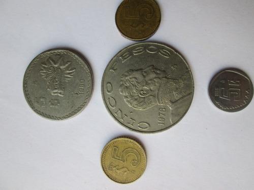lote 50  monedas  antiguas  mexicanas remate