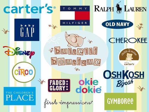 lote 50 piezas ropa infantil americana premium con etiqueta