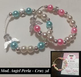 2921bcc7f452 Lote 50 Pulseras Recuerdo En Perla Cristal