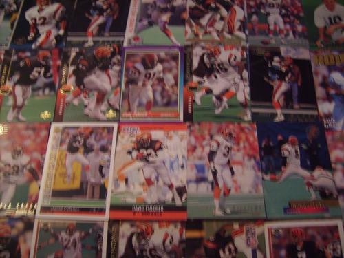 lote 50 tarjetas futbol americano bengalies de cincinnatti