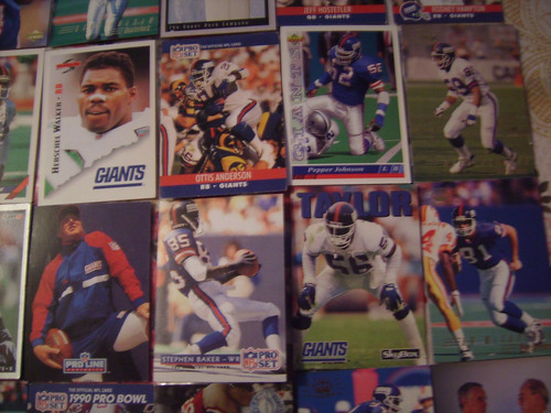 lote 50 tarjetas futbol americano gigantes de nueva york