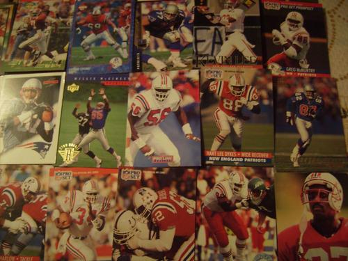 lote 50 tarjetas futbol americano patriotas nueva inglaterra