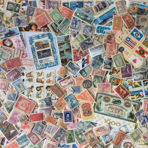 lote 500 selos comemorativos do brasil novos
