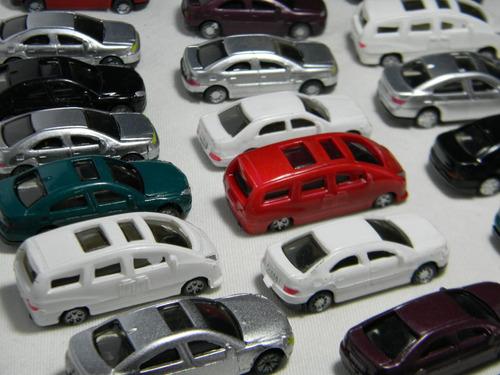 lote 50x miniaturas automóveis ho 1:87 ~ 1:100 figuras