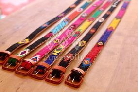 sin impuesto de venta outlet(mk) imágenes oficiales Lote 12 Cinturones Artesanales Mexicanos Con Ojos Bordados