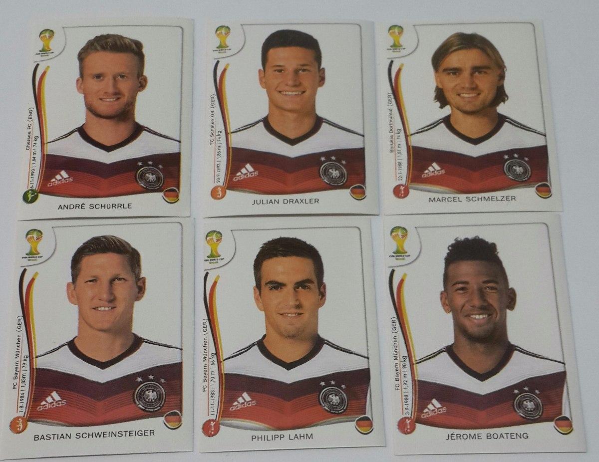 Lote 6 Figuritas Alemania Panini Mundial Futbol Brasil 2014 - $ 15,00