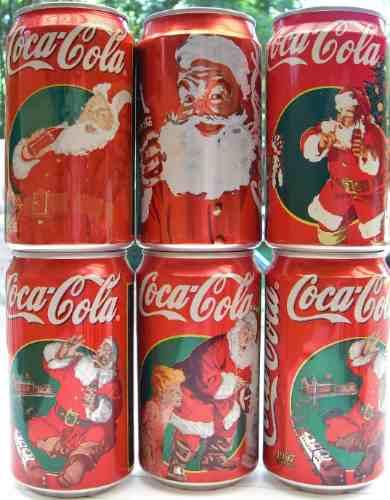 lote 6 latas coca cola navidad