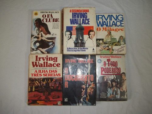 lote 6 livros irving wallace romance best seller