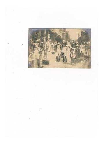 lote 6 postales 1900 militares francia 5 sin uso 1 sello fr